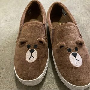 Skechers x Line Friends Brown slip on sneakers